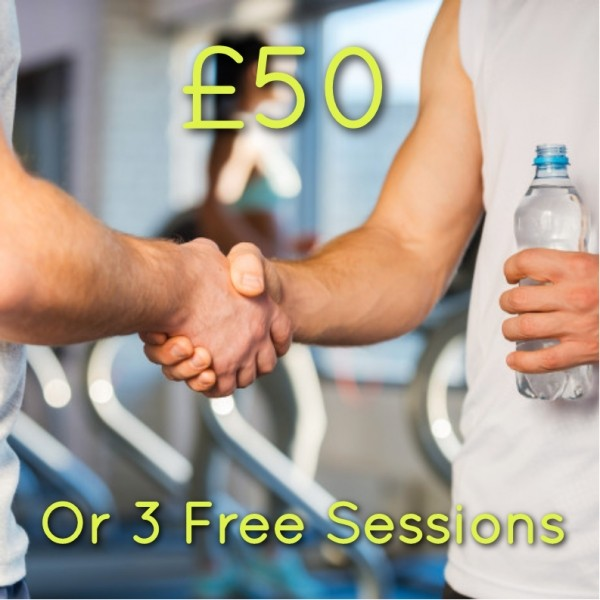 Refer a friend and we'll give you £50 or 3 free sessions!